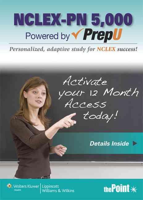 NCLEX-PN 5000 / PrepU By Lippincott & Co. (EDT)